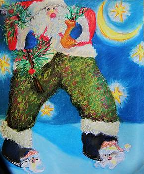 Santa Claus Slippers by Emily Michaud