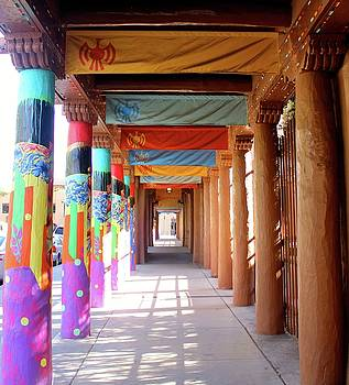 Santa Fe Colorful Columns by Janice Aponte