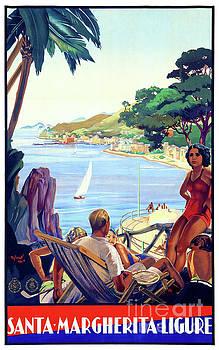 Santa Margherita Ligure Vintage Poster Restored by Carsten Reisinger