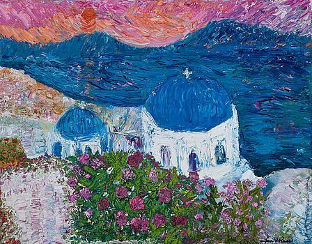 Santorini in May by Tara Leigh Rose