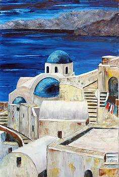 Santorini la grecque by Lesuisse Viviane