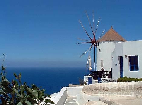 Santorini Windmill by Josephine Benevento-Johnston