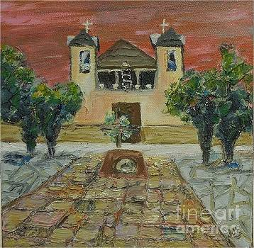 Santuario de Chimayo - SOLD by Judith Espinoza