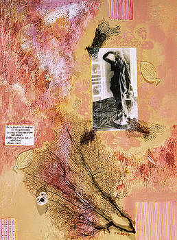 SAPHO THE MUSE a collage in mixed media on canvas by Phil Albone