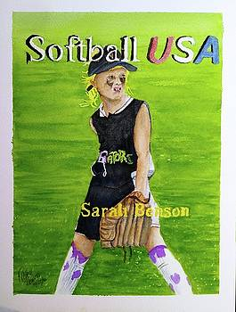 Sarah's ISA World Series Watercolor by Richard Benson