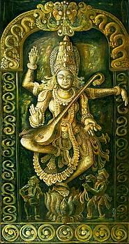 Saraswathi Stone Relief by Murali Surya