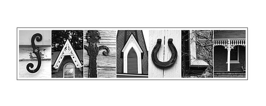 Sarault Custom Alphabet Art by Kathy Stanczak