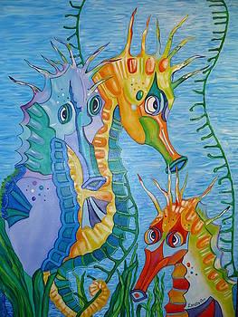 Sassy Seahorsees by Loretta Orr