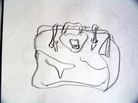 Satchel Sketch by Linda DiGusta
