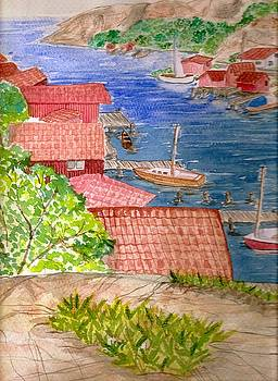 Scandinavian coastal village by Jeanette Lindblad