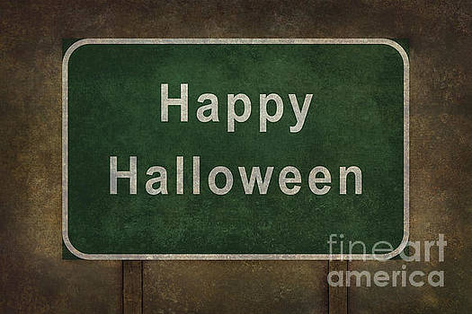 Scary Happy Halloween roadside sign by Bruce Stanfield