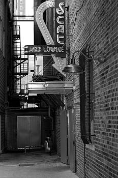 Scat Jazz Lounge - Black and White by Matthew Miller
