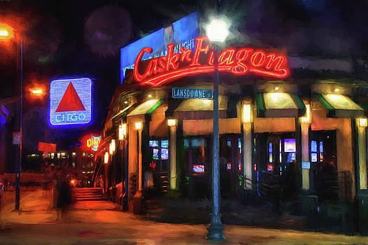 Scenes Around Fenway - Cask n Flagon - Boston by Joann Vitali