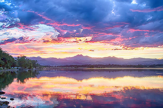 Scenic Colorado Rocky Mountain Sunset View by James BO  Insogna