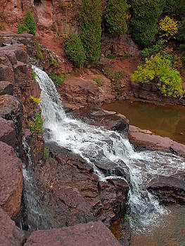 Scenic Gooseberry Falls by James Peterson
