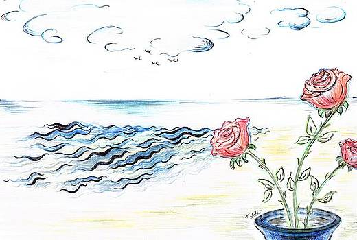 Scented Roses in the Sea Breeze  by Teresa White