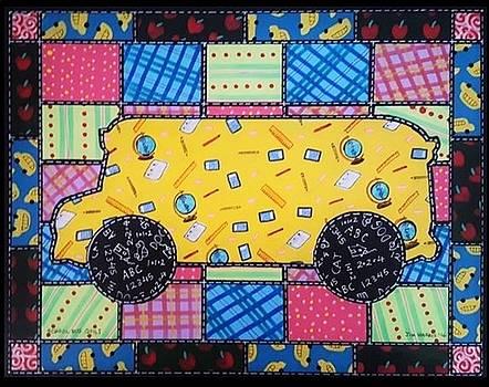 School Bus Quilt by Jim Harris