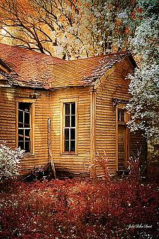 Schoolhouse in the Spring by Julie Dant