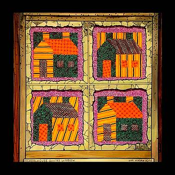 Schoolhouse Quilted Window by Jim Harris