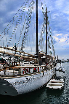 Schooner on the Dock by Ron Grafe