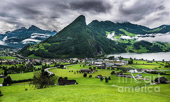 Schwyz Valley and Lauerzersee by Gary Whitton