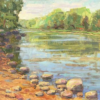 Scioto River Landscape Painting by Robie Benve
