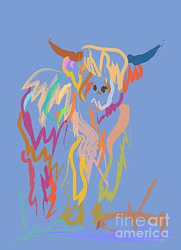 Scottish highland cow by Go Van Kampen
