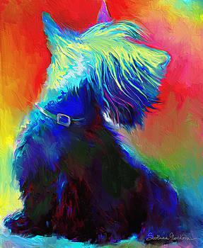 Svetlana Novikova - Scottish Terrier Dog painting
