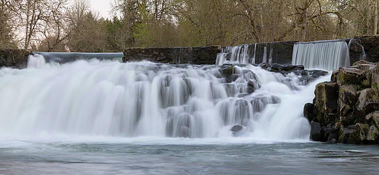 Scotts Mills Falls Panorama by Jit Lim