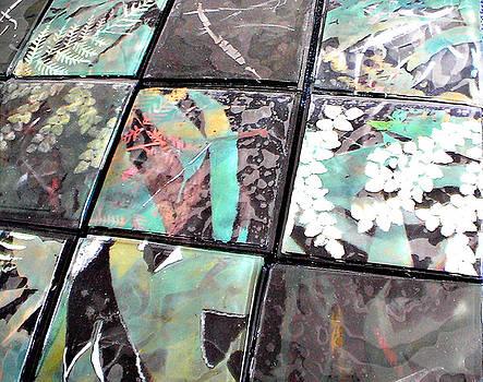 Screen Printed Glass Tiles by Sarah King