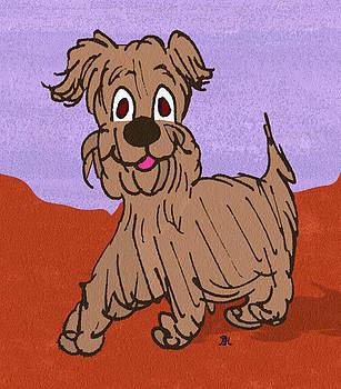 Scruffy Dog by Pharris Art