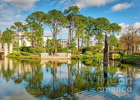 Sculpture Garden Lagoon -City Park New Orleans by Kathleen K Parker
