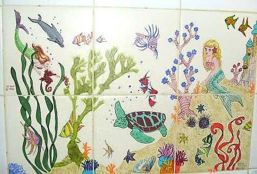 Sea Life Fantasy Mural by Dy Witt
