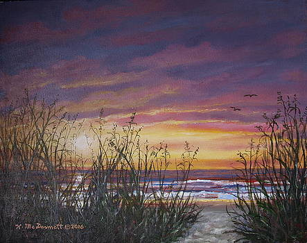 Sea Oat Sunrise # 3 by Kathleen McDermott
