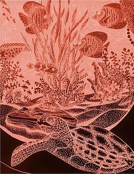 Sea turtle by Jeanette Lindblad