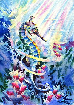 Seahorse Profile by Mary Lillian White
