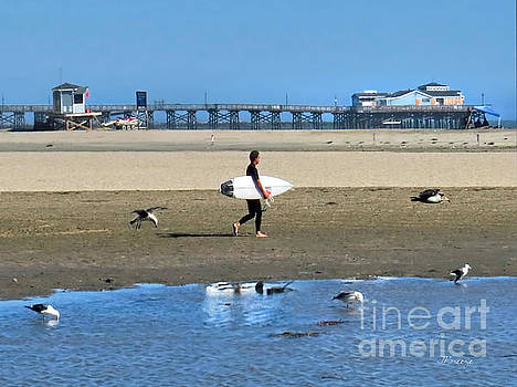 Seal Beach Surfer Boy by Jennie Breeze