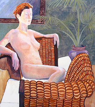 Seated nude by Don Perino