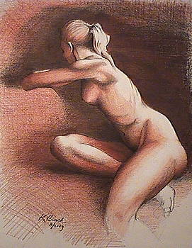 Seated Nude by Kerry Burch