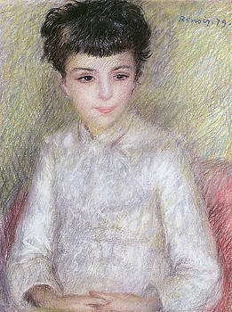 Pierre Auguste Renoir - Seated Portrait of a Young Girl with Brown Hair