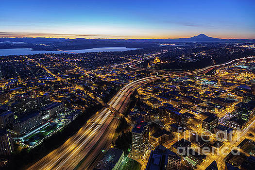 Seattle City at Dawn by Mike Reid