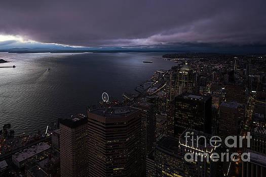 Seattle Night Skies by Mike Reid