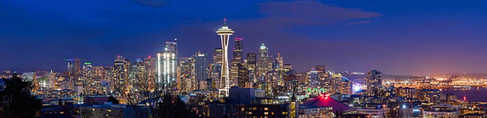 Seattle Night View by Ken Stanback