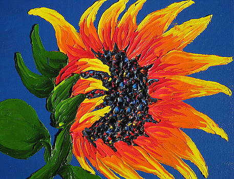 Seattle Orange Sunflower by Portland Art Creations