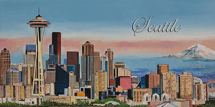 Seattle Skyline by Bill Dunkley