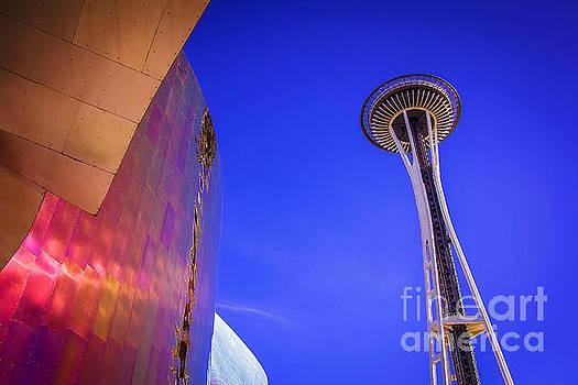Seattle Space Needle by Joan McCool