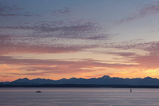 Seattle's Puget Sound Sunset by Stephanie McDowell