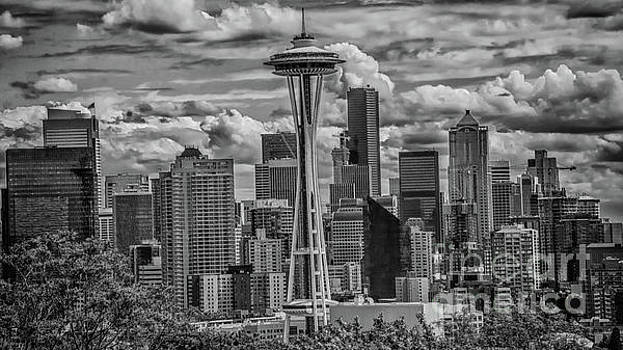 Seattle's Urban Landscape - Black and White by John Greco