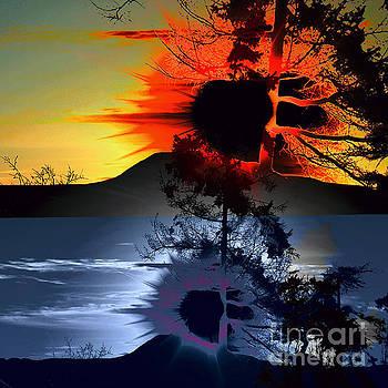 Sechelt tree Sun and Moon by Elaine Hunter