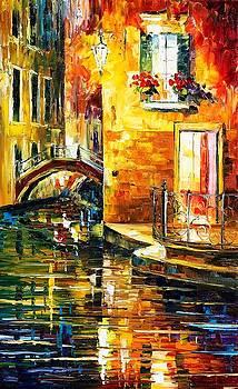 Secrets Of Venice - PALETTE KNIFE Oil Painting On Canvas By Leonid Afremov by Leonid Afremov